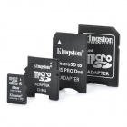 Original Kingston TF / Micro SD-Speicherkarte w / SD / MS PRO Duo / Mini-SD-Adapter - 8GB (Class 4)