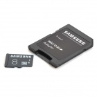 Samsung TF Memory Card w/ SD Card Adapter - Black (8GB / Class 6)
