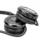 Folding Portable Sports Bluetooth Stereo Headphone w/ MP3/FM/TF/MIC - Black