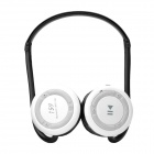 Folding Portable Sports Bluetooth Stereo Headphone w/ MP3/FM/TF/MIC - White