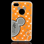 Mickey Mouse Pattern Protective PC Back Case for iPhone 4 / 4S - Orange