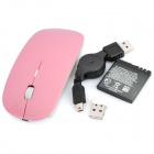 2.4GHz Wireless Laser Mouse USB-vastaanotin - Pink