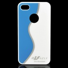 Simple S Pattern Protective PC Back Case for Iphone 4 / 4S - White + Blue