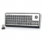 AK810 3-in-1 Mini Wireless Keyboard + Laser Trackball Mouse + IR Remote Control Combo w/USB Receiver