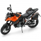 1:12 KTM990 Model Motorcycle for Display / Collection - Black + Silver + Orange