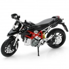 1:12 Ducati Hypermotaro Model Motorcycle for Display / Collection - Black + Silver + Red