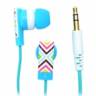 KANEN E10 Stylish In-Ear Earphone - Blue + Green (3.5mm Audio Plug / 115cm-Cable)