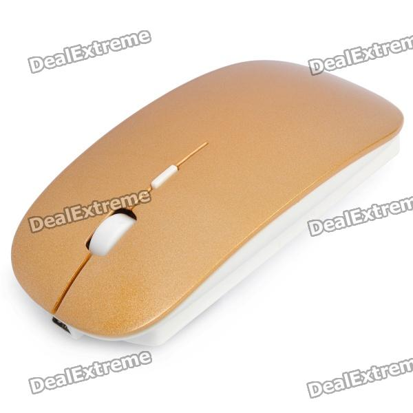 2.4GHz Wireless Optical Mouse with USB Receiver - Golden qi wireless charger charging receiver transparent cover