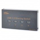 USB 2.0 4-Port Sharing Auto-Switch Printer Splitter - Black