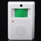 Wireless IR Motion Sensor Electronic Welcome Guest Saluting Doorbell - White (3 x AAA)