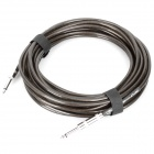 Instrument Guitar Bass Cable Cord - Transparent Grey (10m-Length)