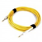 Instrument Guitar Bass Cable Cord - Red + Yellow (5m-Length)