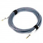 Instrument Guitar Bass Cable Cord - Red + Blue (5m-Length)