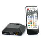 Jesurun 06H Mini 1080P Multi-Media Player w/ HDMI / USB / SD / YUV / AV - Black