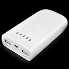 7800mAh Emergency Mobile Power Rechargeable Battery Pack with 10 Adapters - White