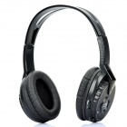 Wireless Headphone w/ Microphone / FM / Transmitter - Black (2 x AA / 2 x AA)