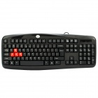 KB-101 Wired 103-Key Keyboard - Black (134cm-Cable Length)