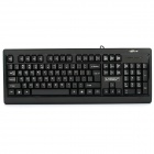 KB-111 104-Key Wired Waterproof Keyboard - Black (121cm-Cable Length)