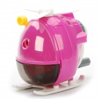 Creative Helicopter Style Hand-Crank Pencil Sharpener - Rosy