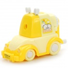 Creative Cartoon Car Style Hand-Crank Pencil Sharpener - Yellow