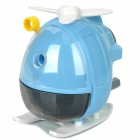 Helicopter Style Hand-Crank Pencil Sharpener - White + Blue