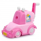 Cartoon Car Style Hand-Crank Desktop Pencil Sharpener - Pink