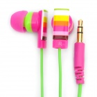 Genuine Kanen E10 Noise Isolation In-Ear Earphone - Carmine + Green (3.5mm Jack / 120cm Cable)