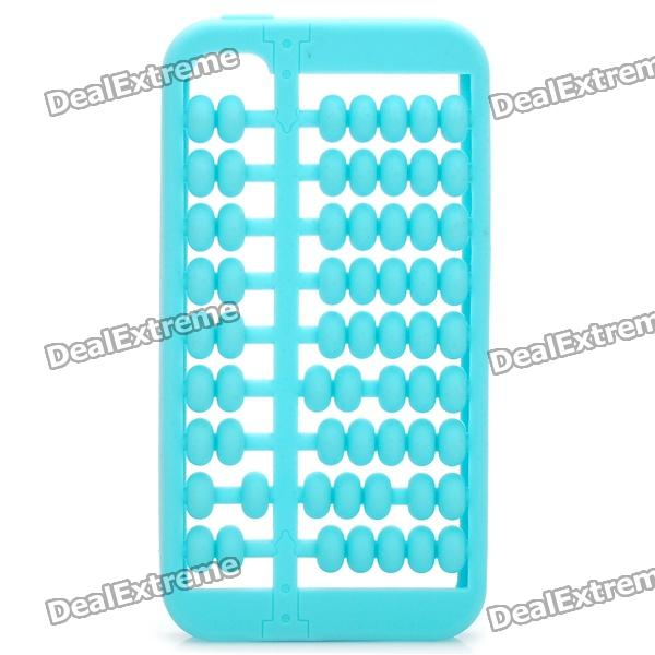 Abacus Style Protective Silicone Case for Iphone 4 / 4S - Blue stylish piano style soft silicone case for iphone 4 4s pink