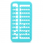 Abacus Style Protective Silicone Case for Iphone 4 / 4S - Blue