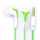 SQ-118DMP Noise Isolation In-Ear Earphone - Green + White (3.5mm Jack / 120cm Cable)