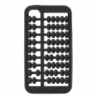 Creative Abacus Style Silicone Back Case Cover for iPhone 4/4S - Black