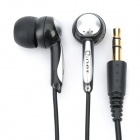 Q-293A Noise Isolation In-Ear Stereo Earphone - Black + Silver (3.5mm Jack / 140cm Cable)