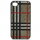 Shining Rhinestone Protective PC Back Case for iPhone 4 / 4S - Black