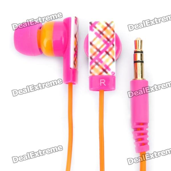 Genuine Kanen E10 Noise Isolation In-Ear Earphone - Carmine + Orange (3.5mm Jack / 120cm Cable)