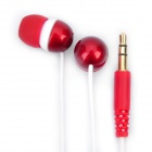 Genuine Kanen E20 Noise Isolation In-Ear Earphone - Red + White (3.5mm Jack / 120cm Cable)