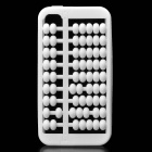 Creative Abacus Style Silicone Back Case Cover for Iphone 4/4S - White