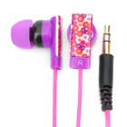 Genuine Kanen E10 Noise Isolation In-Ear Earphone - Carmine + Purple (3.5mm Jack / 120cm Cable)