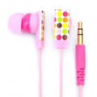 Genuine Kanen E10 Noise Isolation In-Ear Earphone - Pink + Carmine (3.5mm Jack / 120cm Cable)