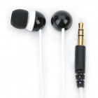Genuine Kanen E20 Noise Isolation In-Ear Earphone - Black + White (3.5mm Jack / 120cm Cable)
