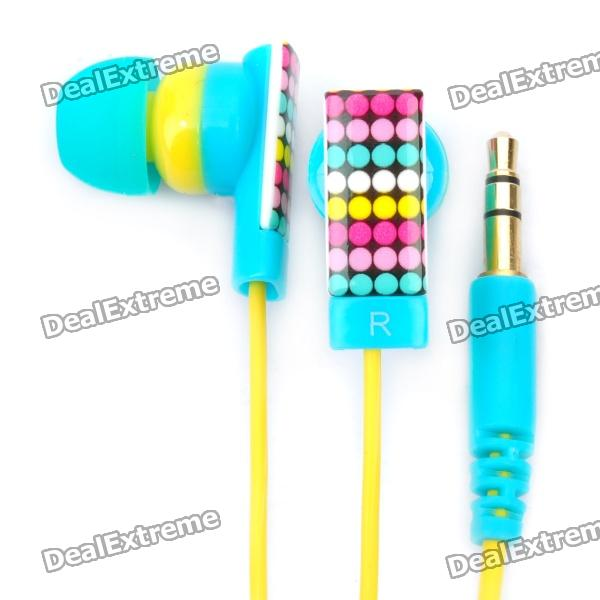 Genuine Kanen E10 Noise Isolation In-Ear Earphone - Blue + Yellow (3.5mm Jack / 120cm Cable)