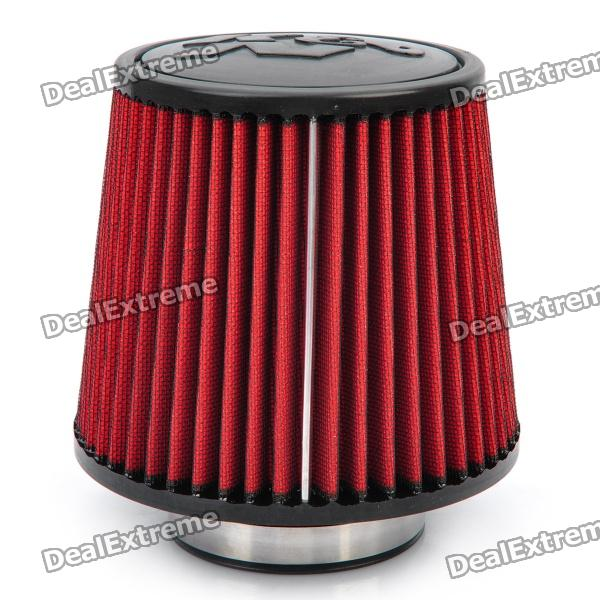 Universal Super Power Flow Stainless Steel Air Filter for Car - Red + Black universal super power flow air filter for car blue