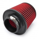Universal Super Power Flow Stainless Steel Air Filter for Car - Red + Black