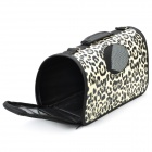 Portable Folding Outdoor Waterproof Bag for Pets - Black Leopard (Size S)