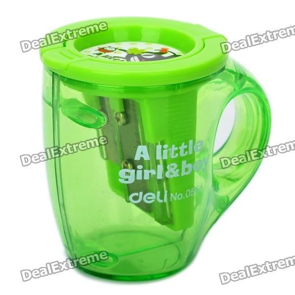 Cute Beer Mug Style Dual Blades Pencil Sharpener (Random Color)