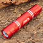 NEW-626A Cree XR-E Q5 300LM 3-Mode White Light Waterproof LED Flashlight - Red (1x18650 Included)