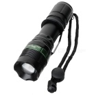 NEW-109A Cree Q3 3-Mode 270LM White LED Zoom Flashlight - Black (1 x 18650 Included)