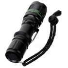 NEW-109A 3-Mode 120LM White LED Zoom Flashlight - Black (1 x 18650 Included)