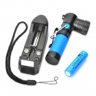 NEW-898 310LM 3-Mode LED Magnet Flashlight w/ Battery and Charger (1x14500 / 1xAA)