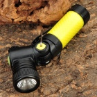 NEW-898B CREE Q5 3-Mode 310LM White LED Flashlight w/ Rotation Head & Charger - Yellow (1x14500/AA)