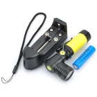 NEW-898B 3-Mode 310LM White LED Flashlight w/ Rotation Head & Charger - Yellow (1x14500/AA)